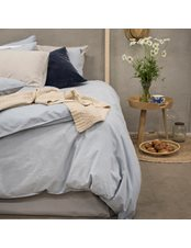 Washed Påslakan King Size 3-Dels